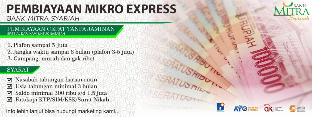 Pembiayaan Tanpa Jaminan Mikro Ekpress